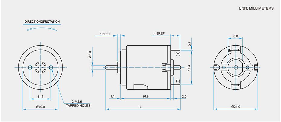 SCRF-260贵金属电刷马达产品介绍