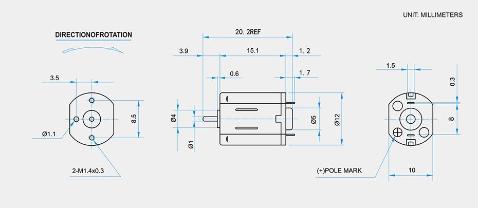 SCFF-N30贵金属电刷马达介绍
