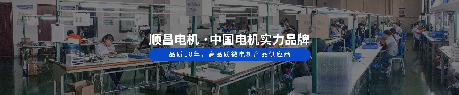 顺昌电机 ·中国电机实力品牌 品质18年,高品质微电机产品供应商