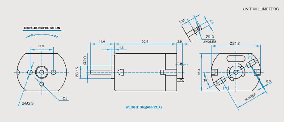 SCFK-280贵金属电刷马达产品介绍