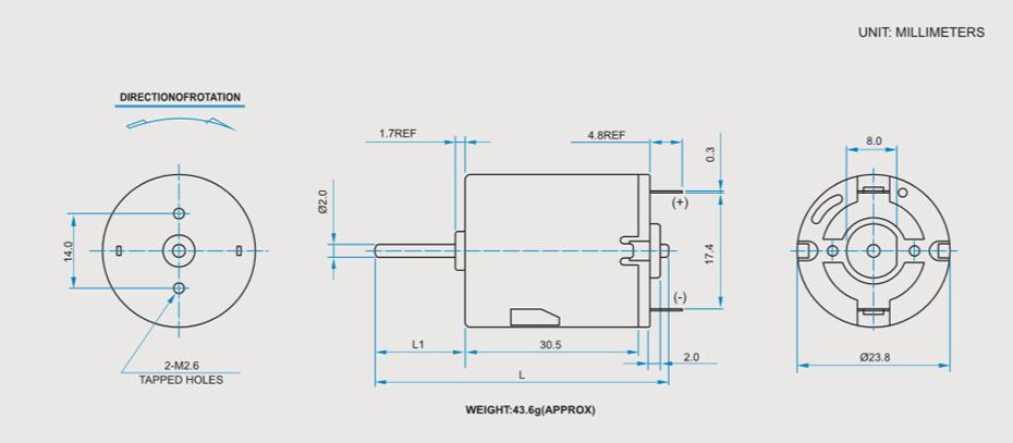 SCRF-280贵金属电刷马达产品介绍