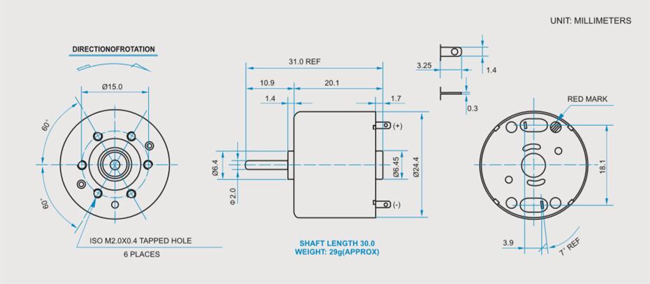 SCRF-310贵金属电刷马达产品介绍