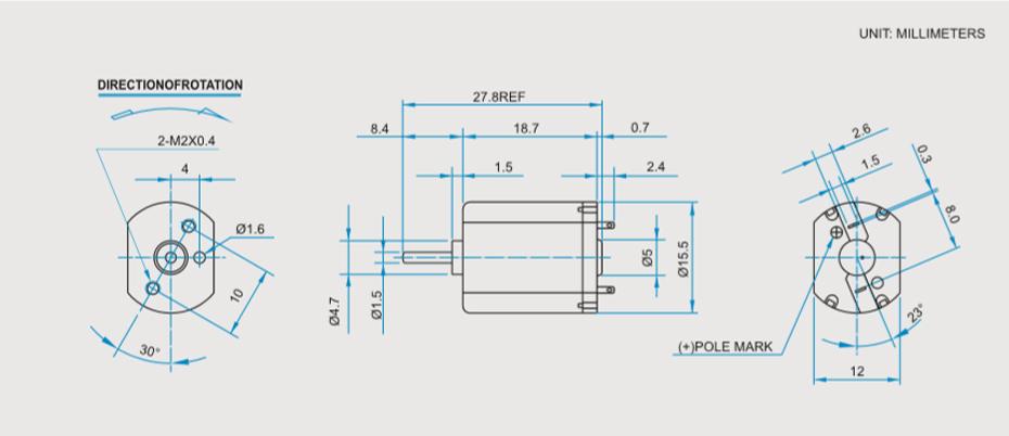 SCFF-030贵金属电刷马达产品介绍