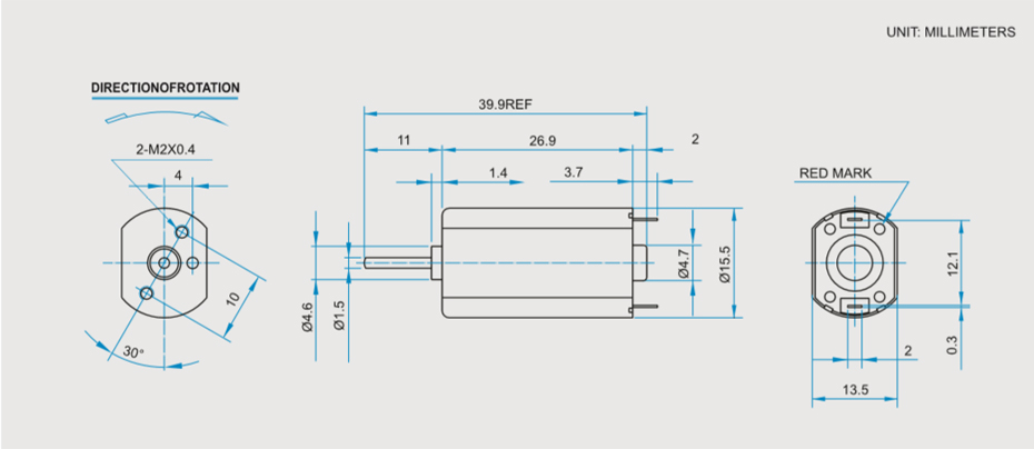 SCFF-050贵金属电刷马达产品介绍
