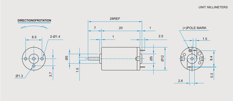 SCRF-1220贵金属电刷马达产品介绍