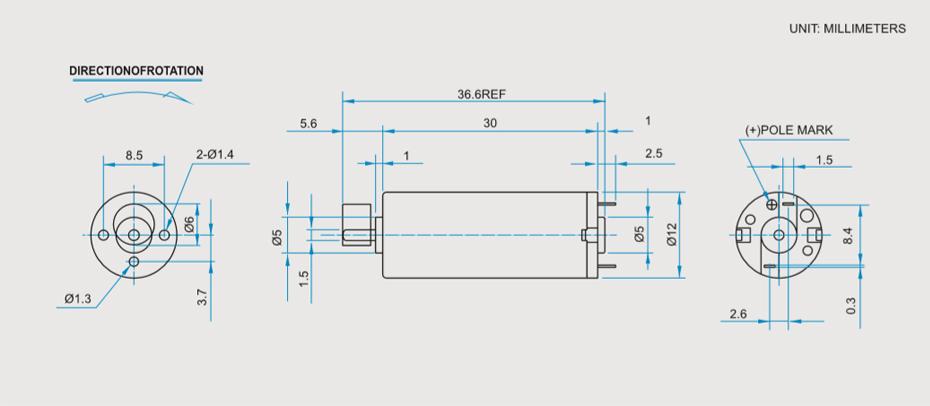 SCRF-1230贵金属电刷马达产品介绍